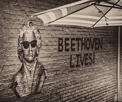 Photograph - Beethoven Lives 2 by Steven Greenbaum