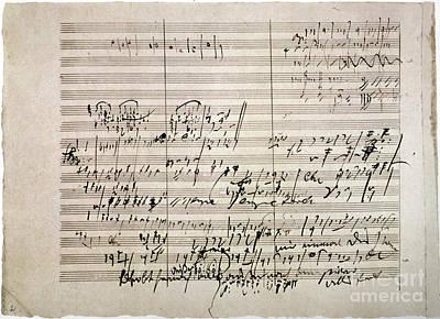 Beethoven Photograph - Beethoven Manuscript by Granger