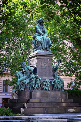 Photograph - Beethoven Monument On The Beethovenplatz Square In Vienna, Austr by Elenarts - Elena Duvernay photo
