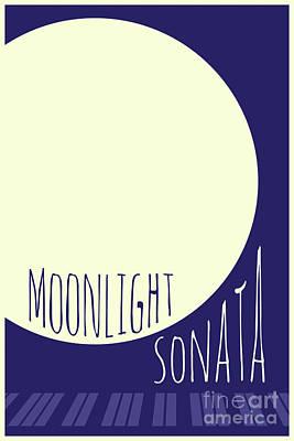Digital Art - Beethoven Moonlight Sonata by Benjamin Harte