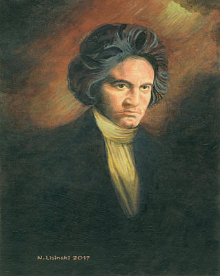 Painting - Beethoven by Norb Lisinski