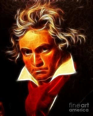 Classical Mixed Media - Beethoven by Pamela Johnson