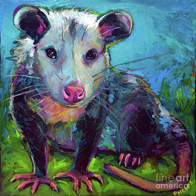 Painting - Beethoven, The Opossum  by Robert Phelps
