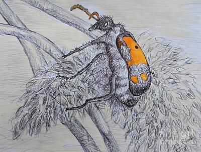 Beetle Bug Art Print by Caroline Street
