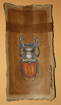 Beetle II Art Print by Gonca Yengin
