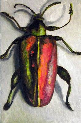 Beetle Art Print by Leah Saulnier The Painting Maniac