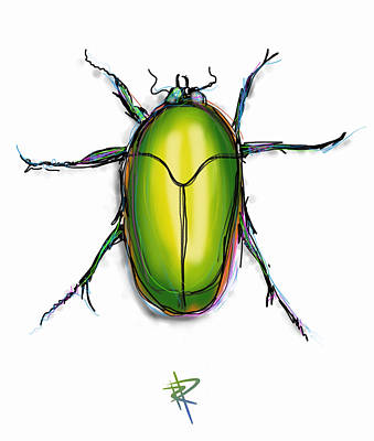 Digital Art - Beetle by Russell Pierce