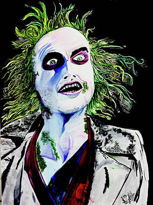 Painting - Beetlejuice by eVol i