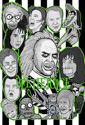 Painting - Beetlejuice Tribute by Gary Niles