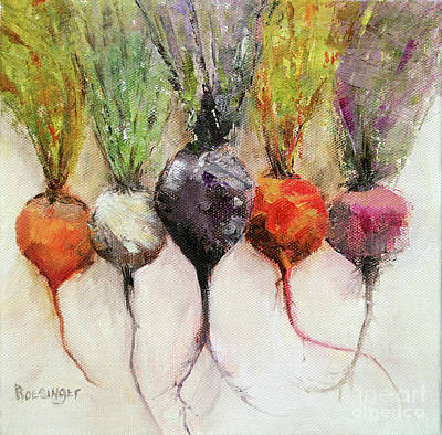 Beets II Art Print by Cindy Roesinger