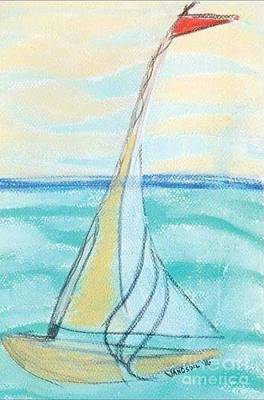 Breezy Day Sailing Art Print