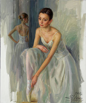 Painting - Before A Rehearsal by Serguei Zlenko