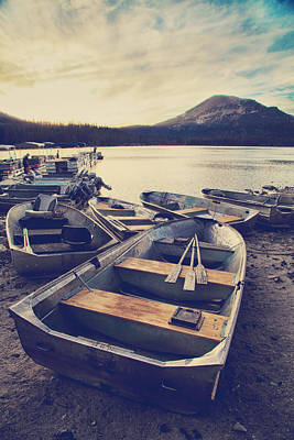 Oars Photograph - Before Another Day Disappears by Laurie Search