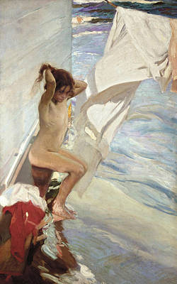 Painting - Before Bath by Joaquin Sorolla
