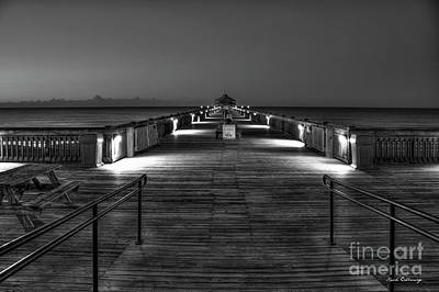 Art Print featuring the photograph Before Dawn Folly Beach Pier Charleston Sc Art by Reid Callaway