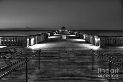Photograph - Before Dawn Folly Beach Pier Charleston Sc Art by Reid Callaway