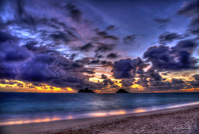 Photograph - Before Dawn Lanikai Beach Oahu Hawaii Collection Art by Reid Callaway
