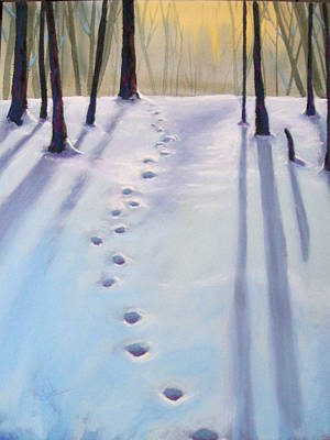 Before Dusk In Deep Snow Art Print by Christine Camp