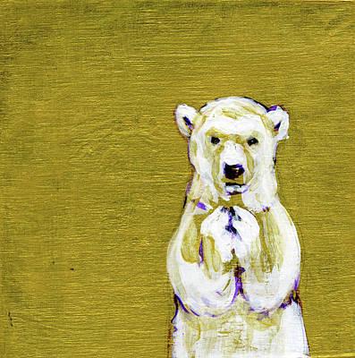 Painting - Before I Sleep Polar Bear Cub by Christine Montague