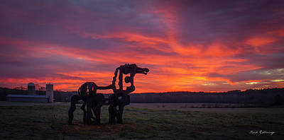 Photograph - Before Sun Up The Iron Horse Collection Art by Reid Callaway