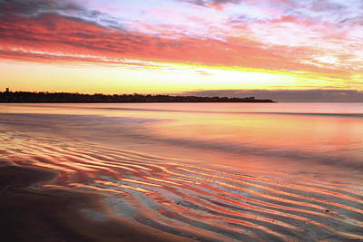 Before Sunrise At First Beach Art Print by Roupen  Baker