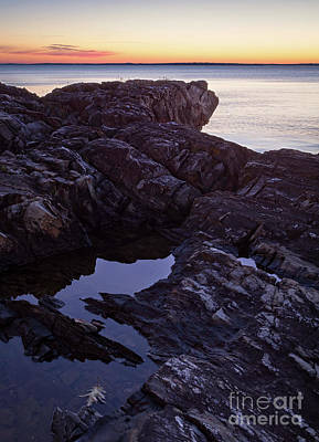 Photograph - Before Sunrise, Camden, Maine  -43816-43818 by John Bald