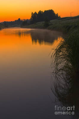 Before Sunrise On The River Art Print