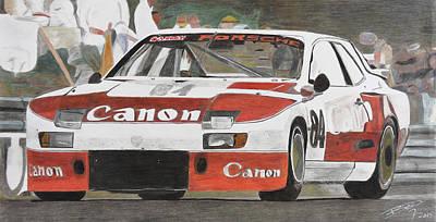 Sportscar Drawing - Before The Big Canon by Gustavo Bondoni