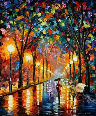 Oil Landscape Painting - Before The Celebration by Leonid Afremov