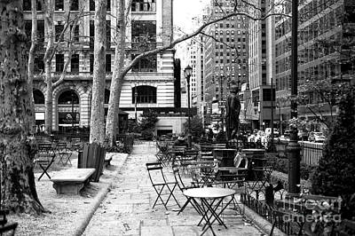 Before The Crowds At Bryant Park Art Print by John Rizzuto