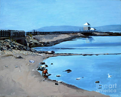 Southie Painting - Before The Fog At Castle Island by Deb Putnam