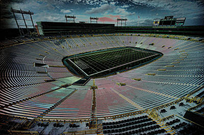 Before The Game At Lambeau Print by Lawrence Christopher