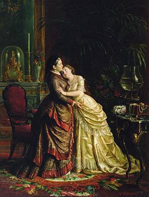 Betrothed Painting - Before The Marriage by Sergei Ivanovich Gribkov