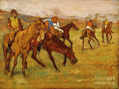 Before The Races Painting - Before The Race, Edgar Degas, Maximum Digital Resolution by Thomas Pollart