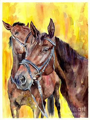 Horse Racing Painting - Before The Race by Suzann's Art
