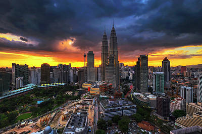Twin Towers Photograph - Before The Rain by Mohd Rizal Omar Baki