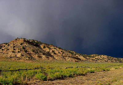 Photograph - Storm Clouds Wyoming #1 by Larry Bacon