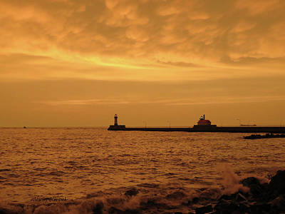 Duluth Canal Park Canal Park Lighthouse Lighthouse Lake Superior Minnesota Photograph - Before The Storm by Alison Gimpel