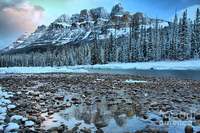 Photograph - Before The Sun At Castle Mountain by Adam Jewell
