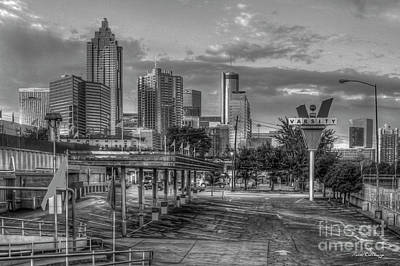 Photograph - Before What'll You Have B W The Varsity Dawn Atlanta Landmark Art by Reid Callaway