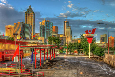 Photograph - Before What'll You Have The Varsity Dawn Atlanta Landmark Art by Reid Callaway