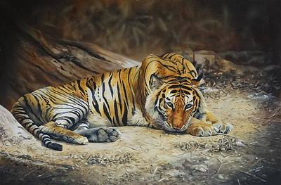 Wall Art - Painting - Bengal Tiger by Julian Wheat