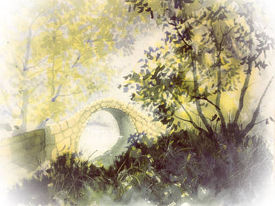 Painting - Beggar's Bridge Vignette by Glenn Marshall
