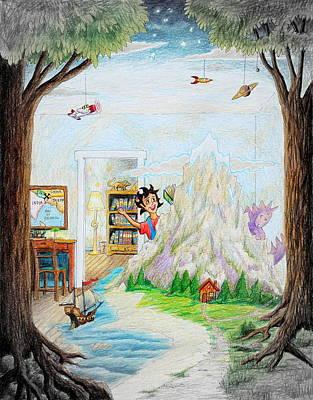 Painting - Beginning A Book by Matt Konar