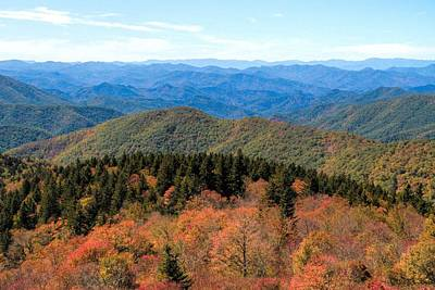 Photograph - Beginning Of Autumn On The Blue Ridge by Dan Sproul
