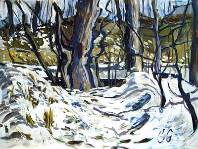 High Key Painting - Beginning To Freeze Over by Charlie Spear
