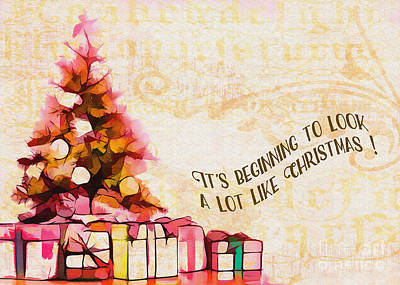 Digital Art - Beginning To Look Like Christmas Card 2017 by Kathryn Strick