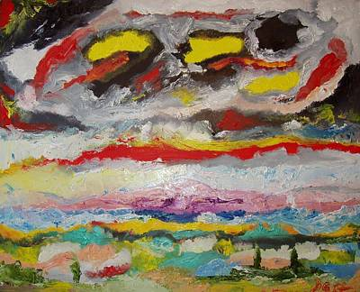 Painting - Beginning. Triptych  Part 1 by Bennu Bennu