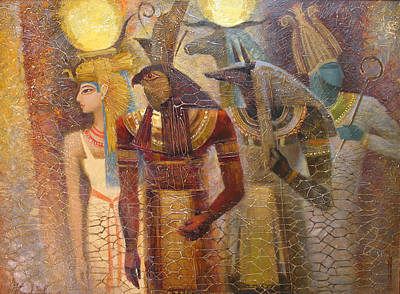 Painting - Beginnings. Gods Of Ancient Egypt by Valentina Kondrashova
