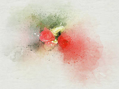 Digital Art - Begonia 7 by Peggy Cooper
